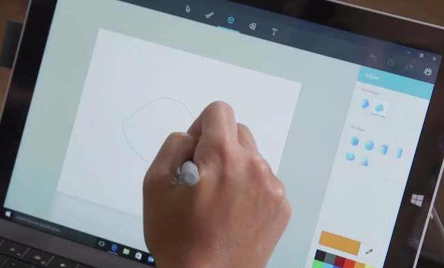 Windows 10 39 s updated paint app leaks online for App to paint on pictures