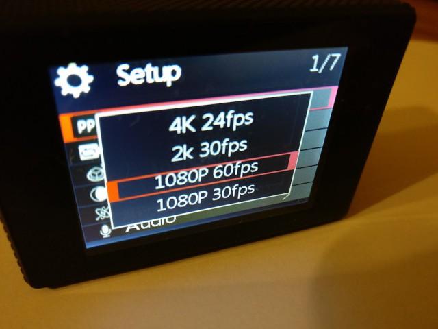 SJCAM SJ5000x Elite video settings