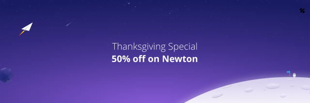 Thanksgiving special Newton 50 percent off