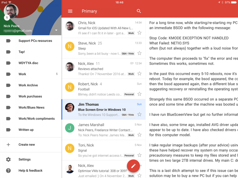 Gmail for iOS unveils Material Design-inspired look ...