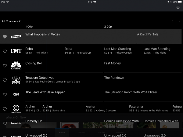DirecTV Now Channel Guide
