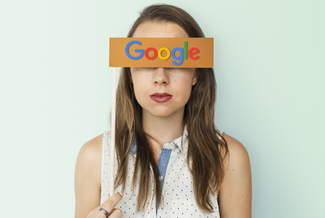 Google covers girls eyes