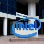 Intel logo building
