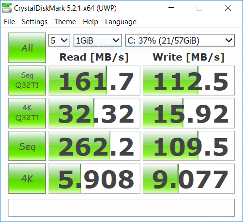 Chuwi LapBook 14.1 storage benchmark