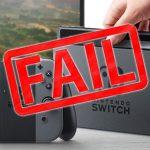 Nintendo Switch fail
