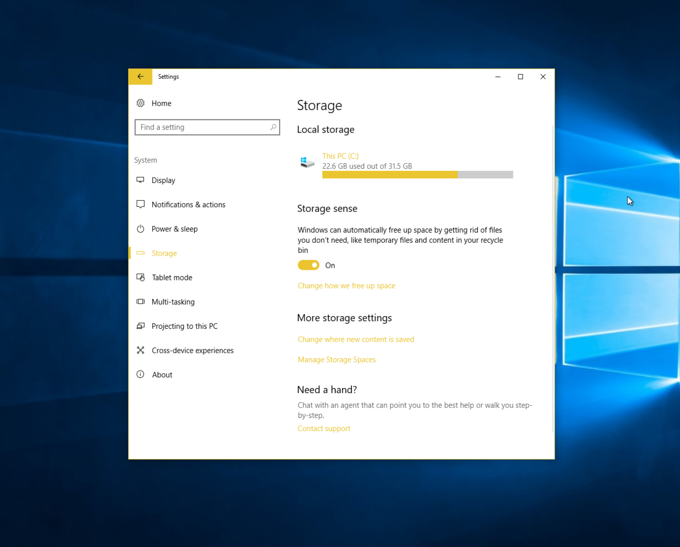 How to automatically free up disk space in Windows 10 Creators Update