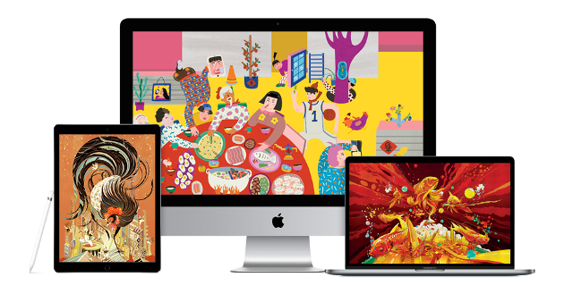 apple releases free chinese new year nianhua folk art wallpapers for mac iphone and ipad