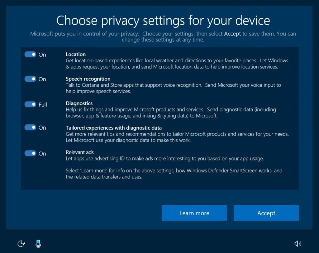Win10 privacy