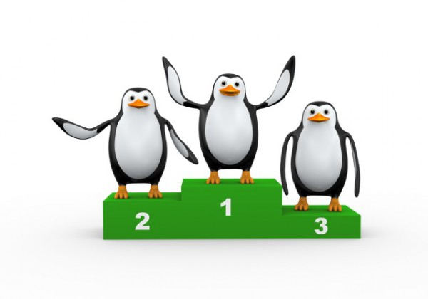 penguin-podium