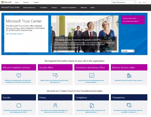 microsoft-trust-center