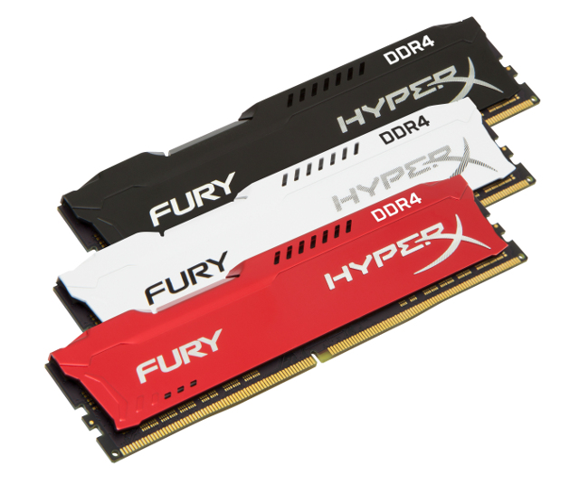 HyperX FURY DDR4 RAM gets new colors, up to 2666MHz
