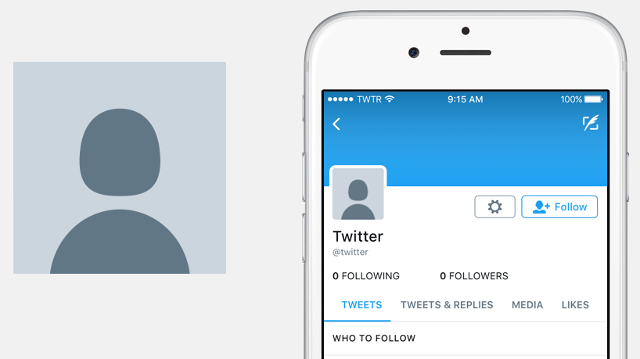 Twitter replaces egg with genderless head and shoulders icon