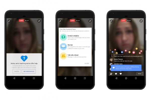 Facebook using artificial intelligence to spot suicidal users and offer real-time prevention