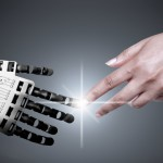 robot ai artificial intelligence human touch hands