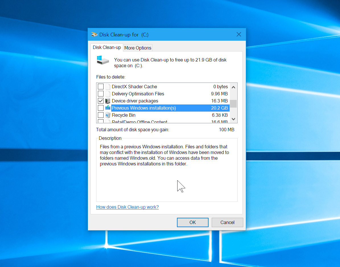 Free Up Over 20gb Of Hard Drive Space In Windows 10 By