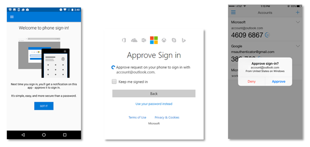 Microsoft Authenticator phone sign in
