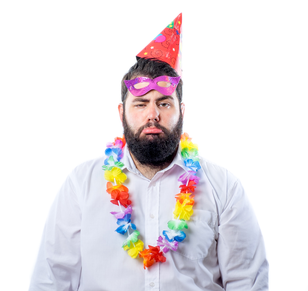 Sad celebration