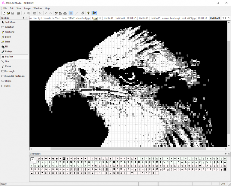 Single Line Ascii Art Facepalm : Convert jpegs to ascii art with studio