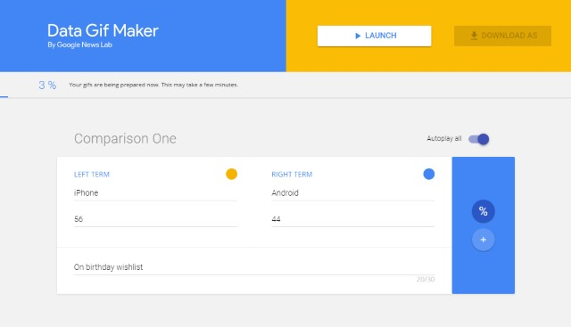 Google launches Data Gif Maker so you can create animated GIFs to illustrate data