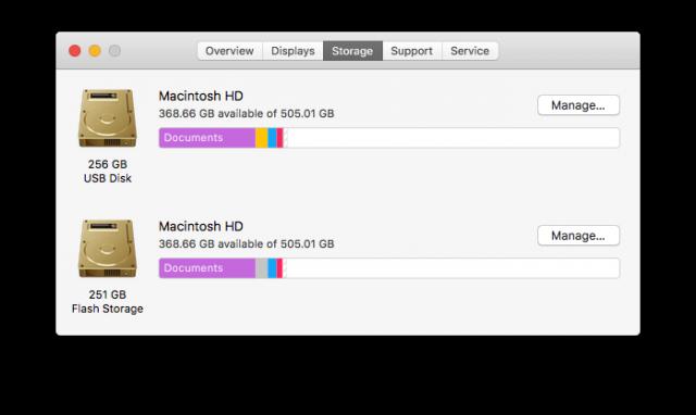 About this Mac Storage TarDisk