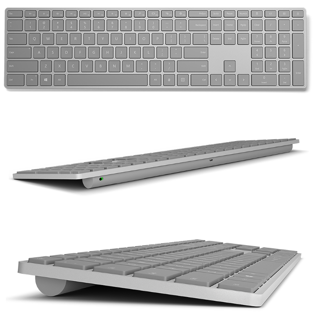 Microsoft's slick new keyboard comes with a fingerprint sensor built in