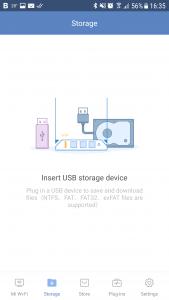 Mi Wi-Fi app Storage