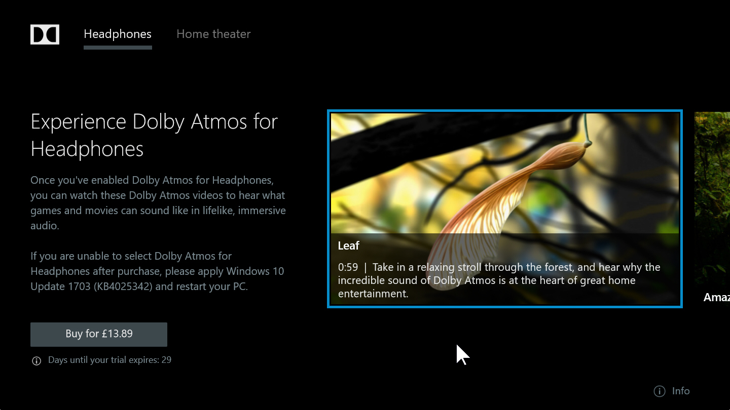 How to enable and use Dolby Atmos surround sound in Windows