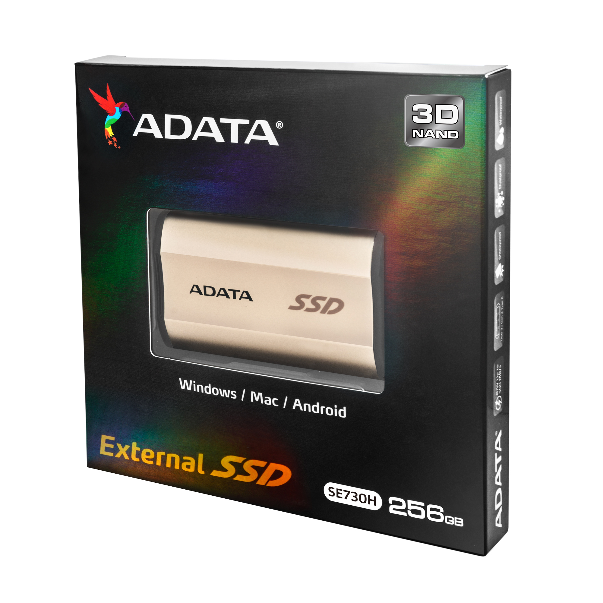 photo image ADATA announces SE730H 3D NAND USB-C External SSD for Windows, macOS, and Linux