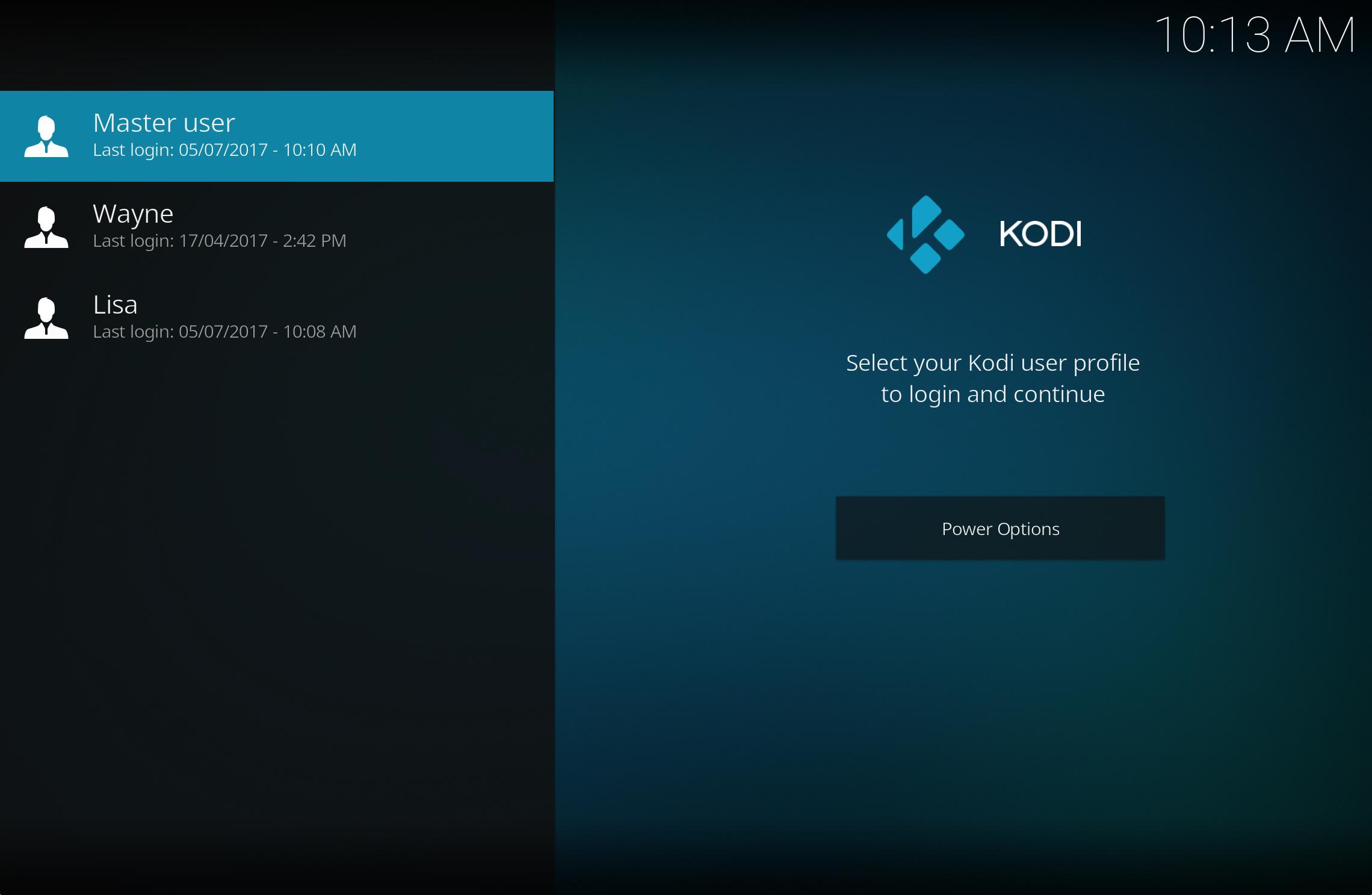 Kodi profiles