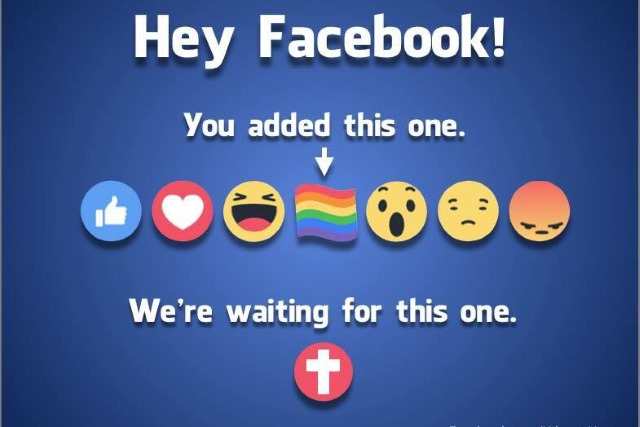Conservative Christians Ask Facebook 'Where's Our Emoji' After LGBT Pride Gets One