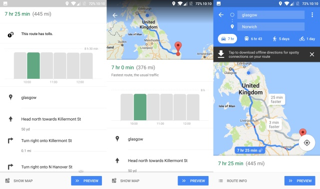 photo image Google Maps tells you the best time to start your journey