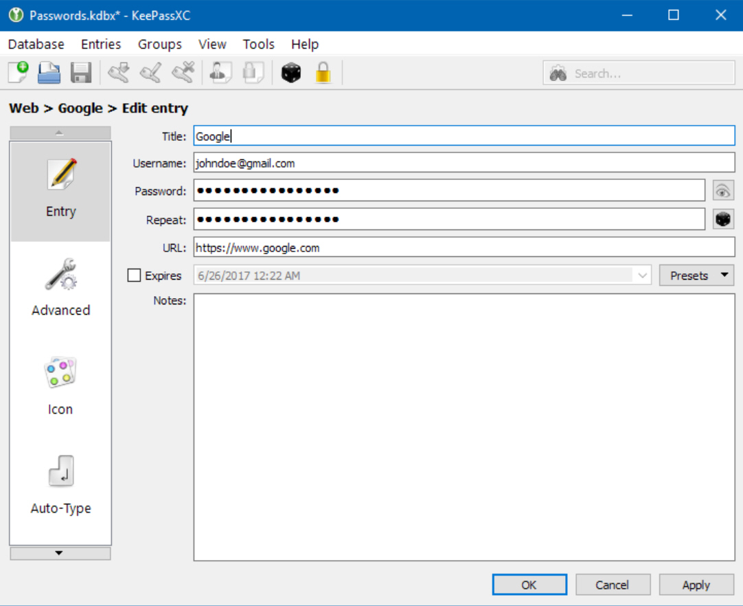 Store and synchronize your passwords with the free KeePassXC