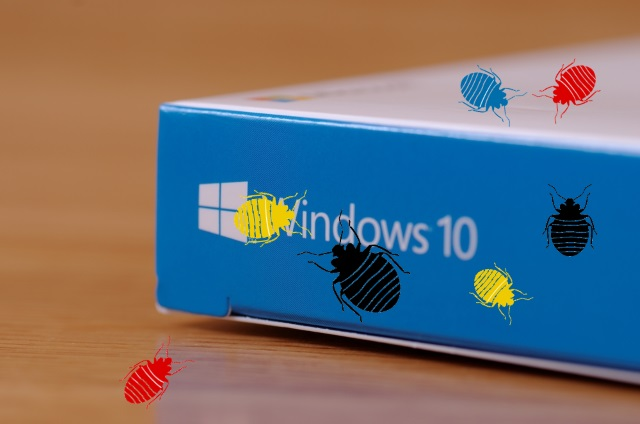 Windows 10 box with bugs