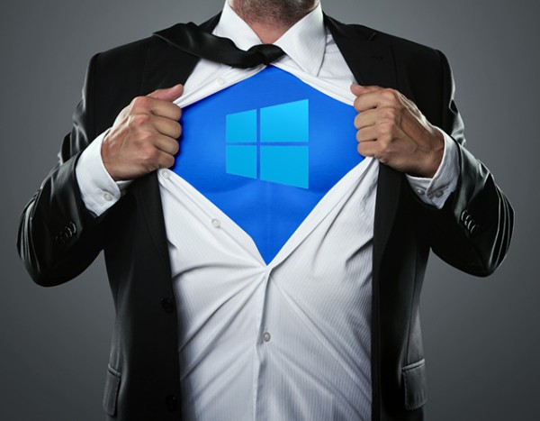 Windows 10 superhero