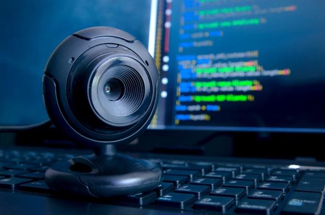 cámara web negra