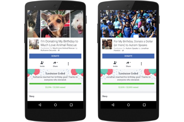 Facebook announces new birthday features -- fundraisers and celebratory videos