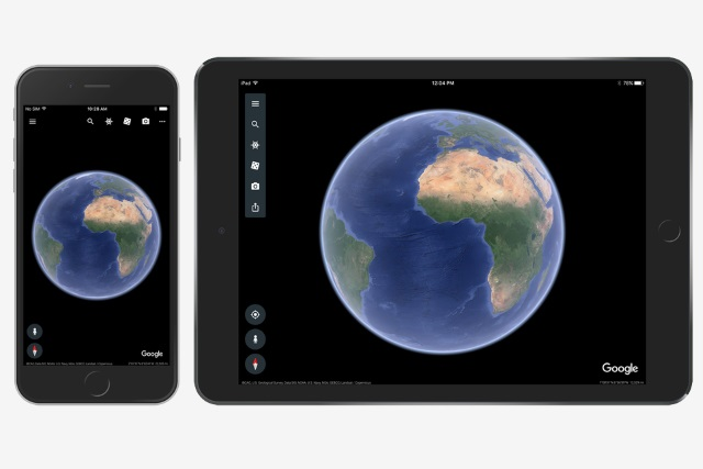 Google's Earth's slick new redesign is finally on iOS
