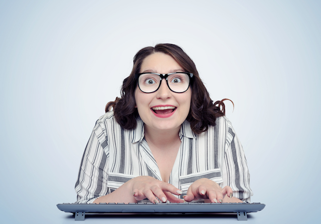 Excited_Woman_Lady_Glasses_Keyboard_Excited_Smile