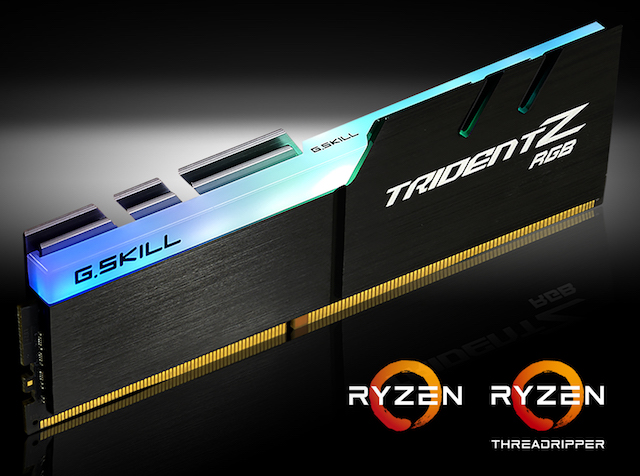 G.Skill launch AMD-Optimised Trident Z RGB memory