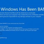 Your windows has been banned