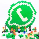 WhatsApp logo made of LEGO