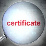Magnified certificare