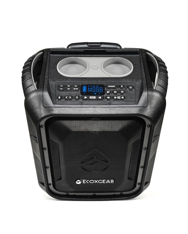 ECOXGEAR EcoBoulder+ Bluetooth Speaker Has Wheels, A Bottle Opener, And Cup Holders