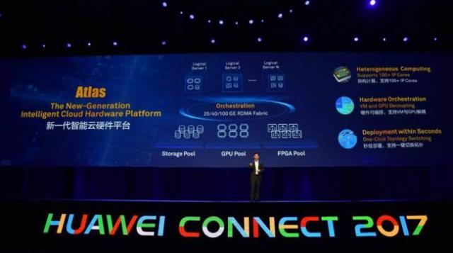 Huawei Connect 2017 Atlas intelligent cloud hardware platform