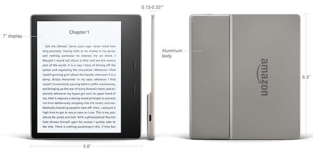 Kindle Oasis Is Amazon's Water Resistant E-Book Reader