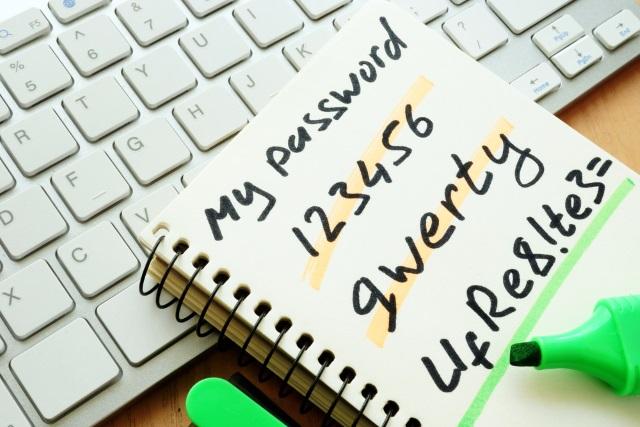 Written passwords