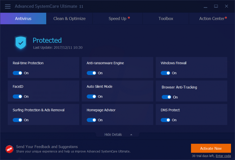 advanced systemcare ultimate 10 key 2018