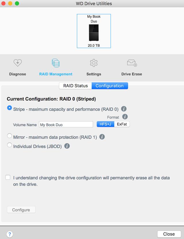 Western Digital My Book Duo 20TB USB-C external RAID hard