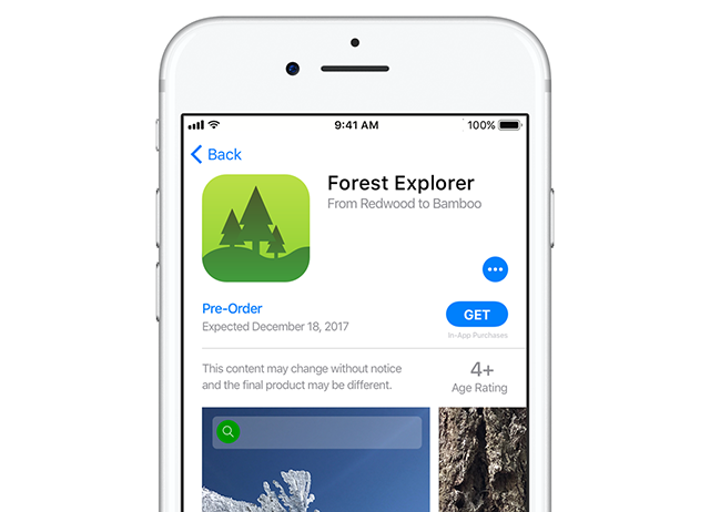 Apple iPhone and iPad users can now pre-order apps
