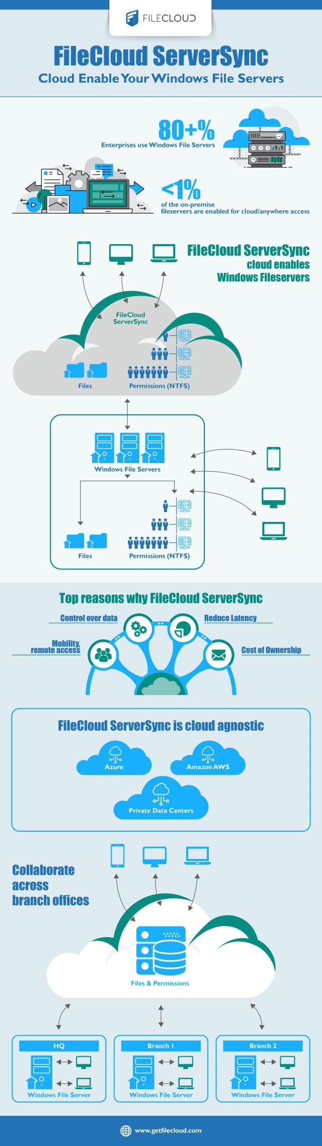 FileCloud ServerSync - Infographic